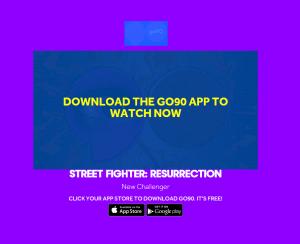 Street Fighter sur Go 90